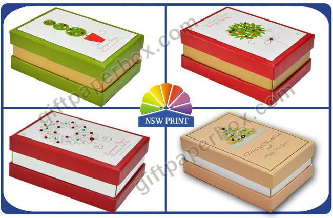 Diamond Decorated CCNB Soap Gift Boxes / Soap Packaging Box for Christmas Promotion