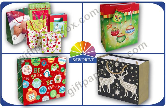 Christmas / Birthday / Festival Wrapping Paper Gift Bag with Customized Logo Printing