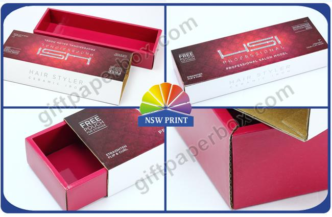 High End Corrugated Carton Box for Hair Straighten Product , Hair Extension Packaging Box