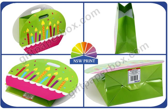 Funny Round Shape Wrapping Paper Gift Bag / Luxurious Fashion Birthday Gift Paper Bags