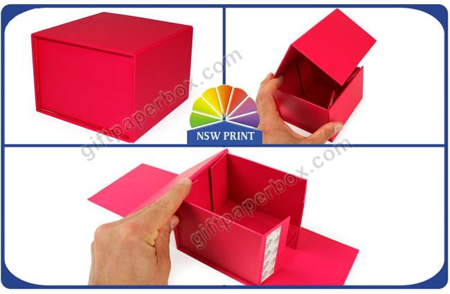 Custom Flat Fold Up Box / Foldable Gift Box Logo Printing Easy Shipping