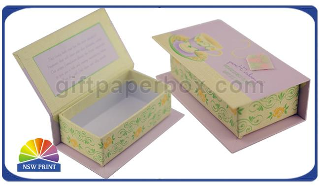 Customized Hinged Lid Printed Rigid Gift Box For Eyeliner Beauty Products