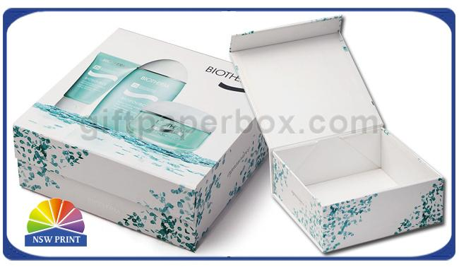 Magnetic Closure Collapsible / Foldable Paper Box For Cosmetic Cardboard Packaging