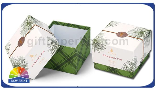 Delicate Printing Design Lid / Base Paper Cardboard Gift Box Rigid Spot UV Surface