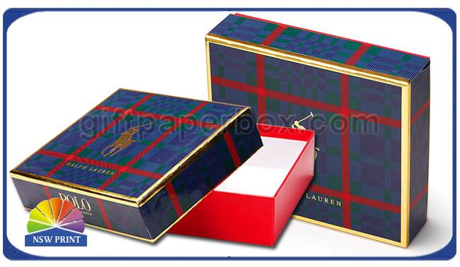Luxury Design Two Pieces Paper Gift Boxes Detachable Lid Cardboard Rigid Gift Box
