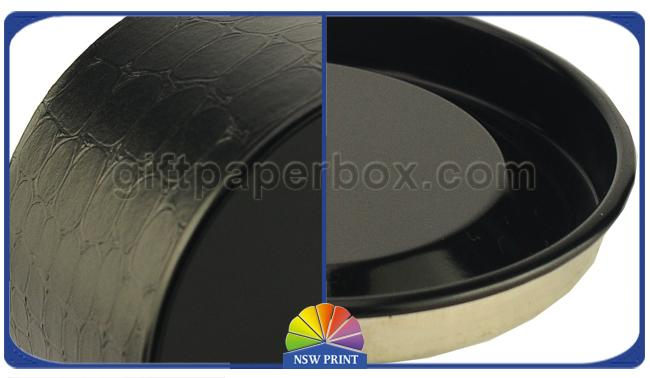 Black Metal Plug / Cap / Bottom Paper Packaging Tube Sustainable For Eye Mask