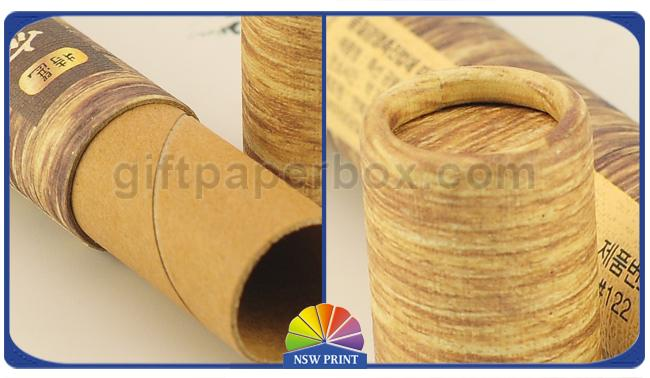 3 Piece Telescopic Cylinder Kraft Paper Packaging Tube With Paper Cap Eco - Friendly
