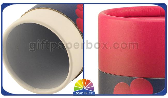 Retail Packaging Round Paper Cylinder Containers For Candle / Soap / Bath Bomb