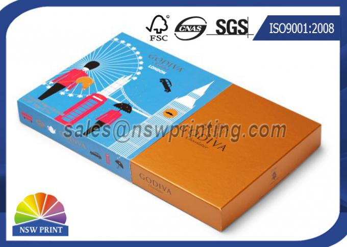 OEM Chocolate Packaging Rigid Paper Box With Cardboard Sleeve / Custom Printing