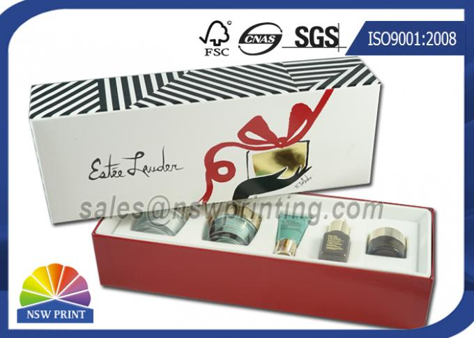 Luxury Paper Gift Box Cosmetic Rigid Cardboard Box With Flocking Plastic Blister
