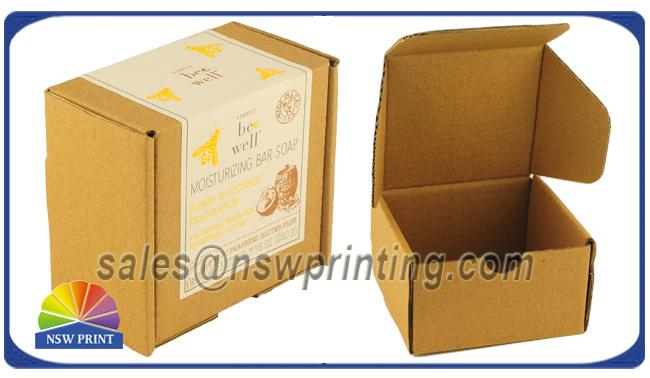 Custom Print Label Corrugated Kraft Mailing Box E Flute Brown Corrugated Mailer