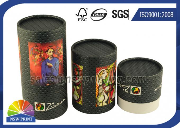 Custom Tea / Coffee Beans Cardboard Cylinder Tubes Packaging Tubes